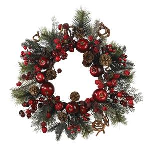 22'' Apple Berry Christmas Wreath