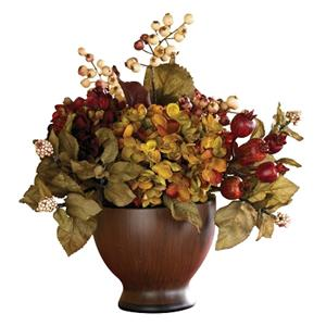 Autumn Hydrangea with Round Vase