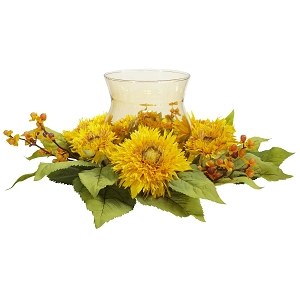 Golden Sunflower Candelabrum