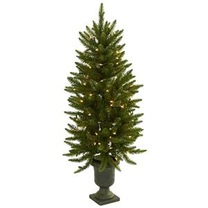 4' Christmas Tree with Urn & Clear Lights