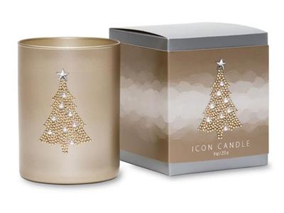Christmas Tree Vintage Icon Candle