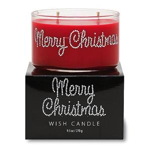 Merry Christmas Wish Candle