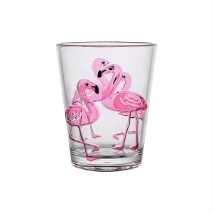 Acrylic 16 oz Tumbler - Flamingo - Set of 2
