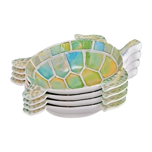 Melamine 9.75 inch Bowl - Turtle - Set of 4