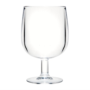 Acrylic Stemmed Wine Glass - 9 oz Stackable