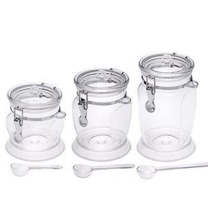4-Sided Acrylic Canister Set