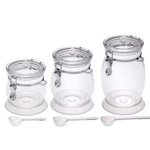 Oval Acrylic Canister Set - Set of 3