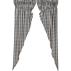 Annie Buffalo Black Check Prairie  Long Panels (Set of 2)