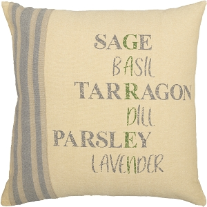 Farmer's Market Garden Pillow 18 x 18