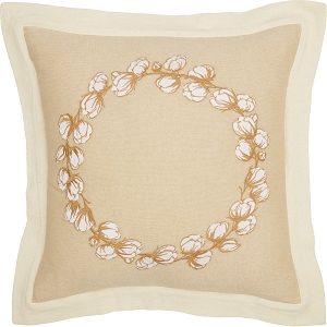 Ashmont Cotton Wreath Pillow 18 x 18
