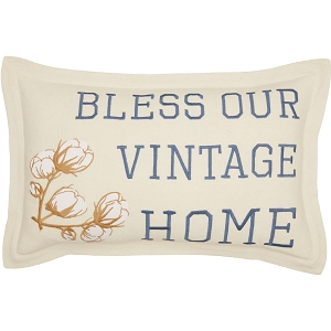 Ashmont ''Bless Our Vintage Home'' Throw Pillow (14 x 22)