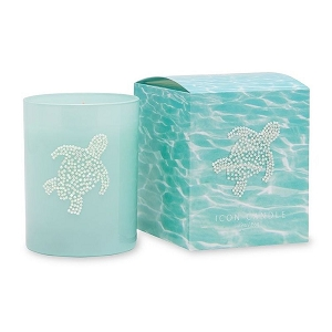 Sea Turtle Jeweled Candle