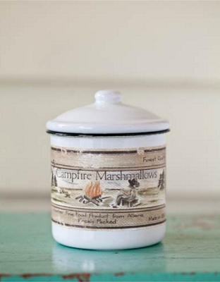Smokey Mountain 10 oz Soy Candle - Enamelware Canister