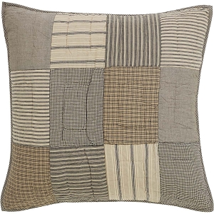 Sawyer Mill Charcoal Quilted Euro Sham
