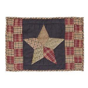 Arlington Placemat Quilted Patchwork Star Set of 6