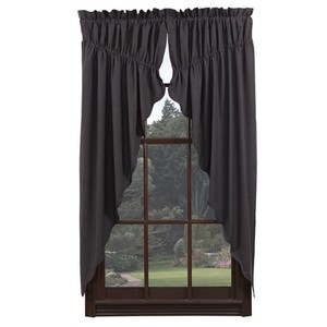 Arlington Prairie Curtain Scalloped Lined Set of 2  (63x36x18)