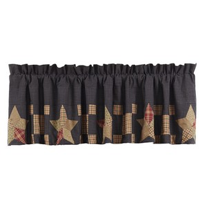 Arlington Lined Valance With Block Border
