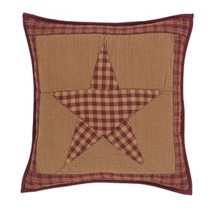 Ninepatch Star Quilted Pillow