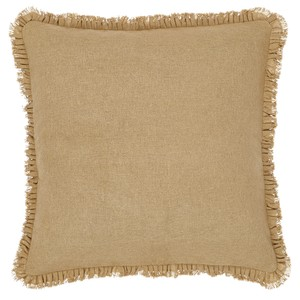 Burlap Natural Fringed Pillow