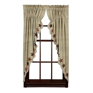 Abilene Star Prairie Curtain Set (63x36x18)