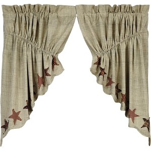 Abilene Star Prairie Swag Set of 2