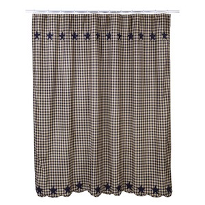 Navy Star Shower Curtain