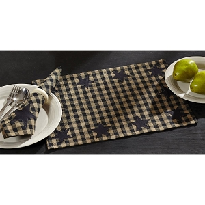 Black Star Placemats - Set of 6