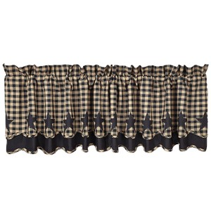 Black Star Scalloped & Layered Valance