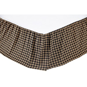 Black Check Bed Skirts