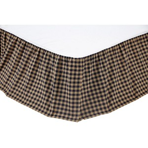 Navy Check Bed Skirts