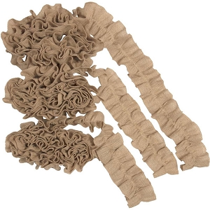 Jute Burlap Natural Garland - Set of 3 9 ft Each
