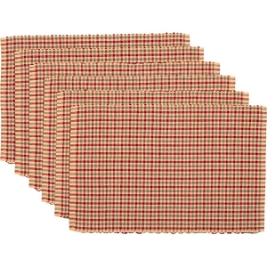 Jonathan Plaid Ribbed Placemats - Set of 6