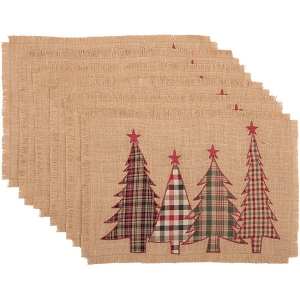 Clement Applique Tree Placemats - Set of 6
