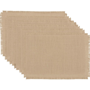 Jute Burlap Natural Placemats - Set of 6