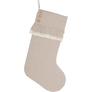 Carol Chambray Stocking 12x20