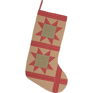 Dolly Star Tan Patch Stocking 12x20