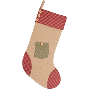Dolly Star Green Pocket Stocking 12x20