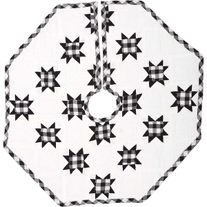 Emmie Black Patchwork Tree Skirt