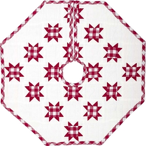 Emmie Red Patchwork Tree Skirt