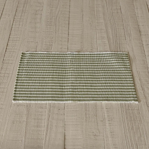 Harmony Olive Ribbed Placemat Set of 6
