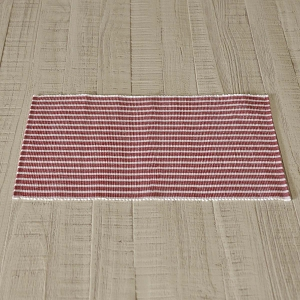 Harmony Red Ribbed Placemat Set of 6