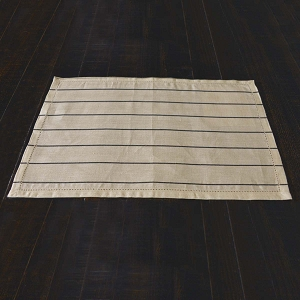 Charley Black Placemat Set of 6