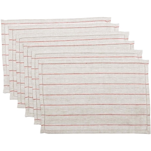 Charley Red Placemats - Set of 6