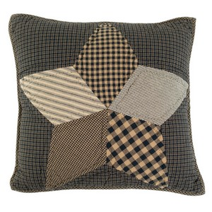 Farmhouse Star Quilted Throw Pillow