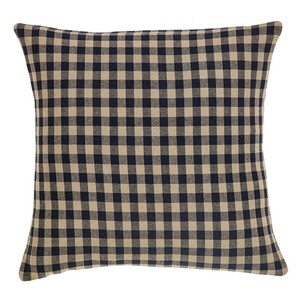 Black Check Fabric Pillow