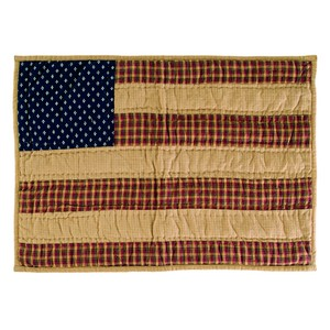 Patriotic Patch Quilted Placemats - Set of 6