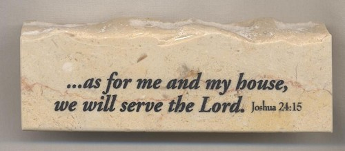 Joshua 24:15 As For Me and My House - Jerusalem Stone Scripture Stone