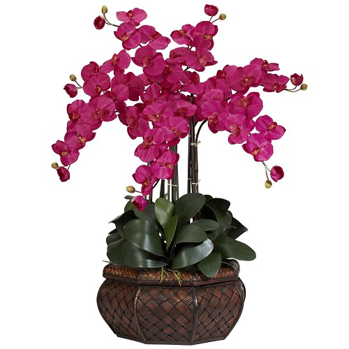 Large Beauty Phalaenopsis Silk Flower Arrangement