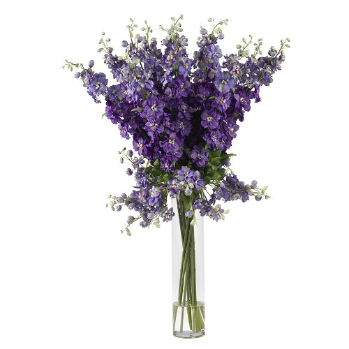 Purple Delphinium Silk Flower Arrangement
