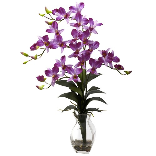 Purple Dendrobium Orchid w/Vase Arrangement